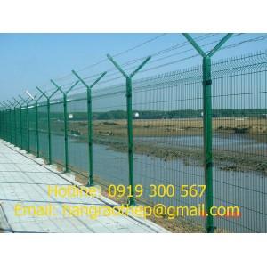 Hàng rào mạ kẽm uốn sóng trên thân